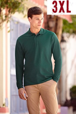 Fruit Of The Loom Premium Long Sleeve Polo 3XL